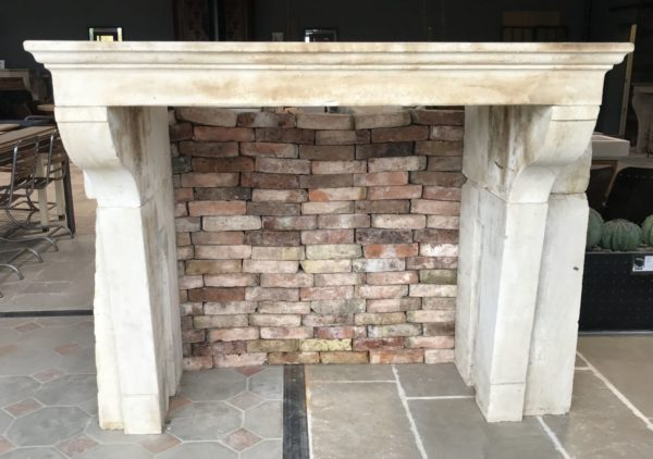 antique classic fireplace in stone