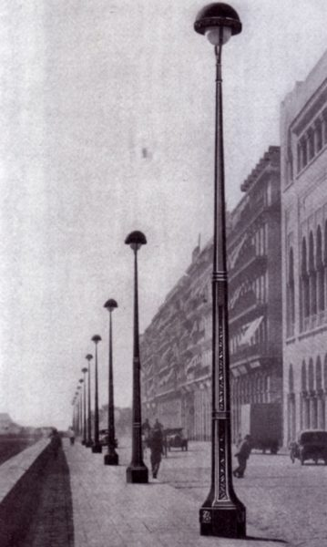 art deco lamp posts