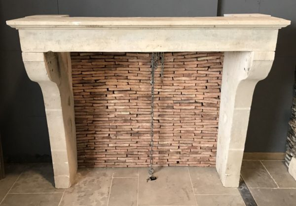 french limestone fireplace from BCA premise