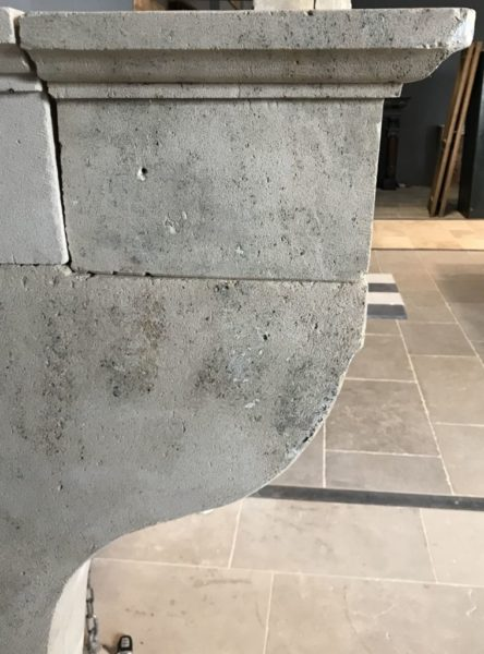 french fireplace corbel in limestone antique