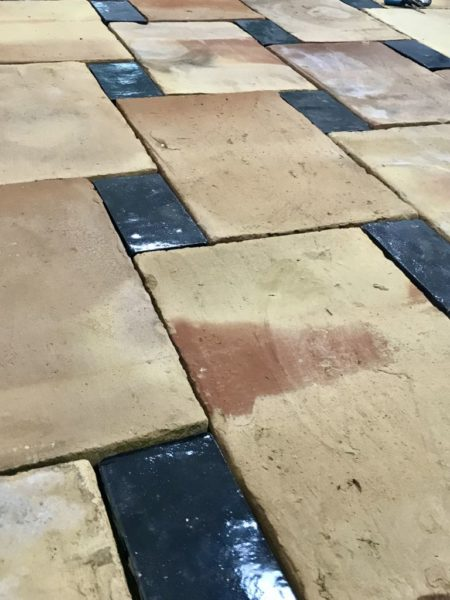 french terracotta tiles in black colours