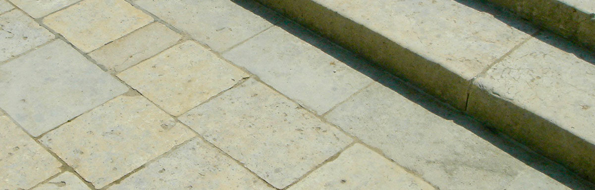 antique flagstones tiles steps chenonceau from chateau