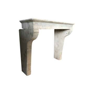 antique french limestone fireplace with whimneypiece
