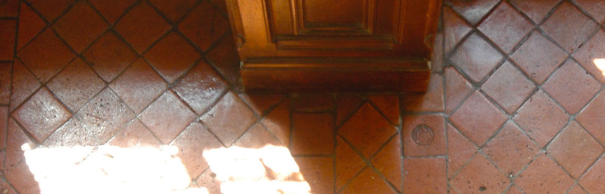 Antique french terra cotta floors at Chenonceau