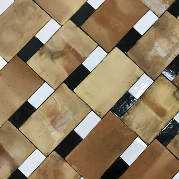 antique bicolor terracotta tiles