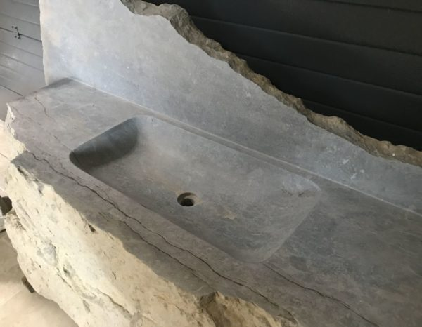 Discover bathroom stone faucet