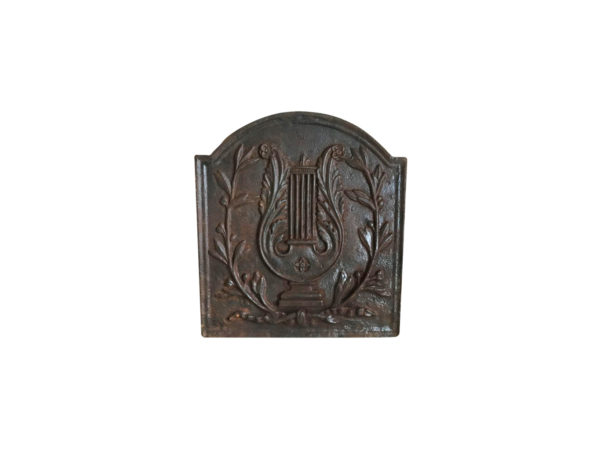 classic french antique cast iron fireback