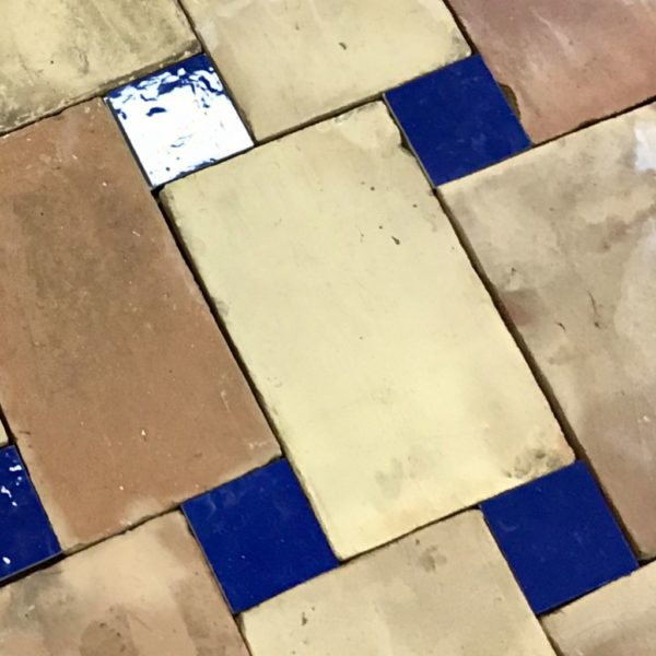 parefeuille with blue zelliges tiles
