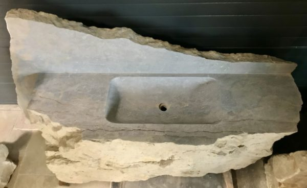 stone sink with a worktop
