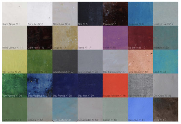 all our zelliges colour choices