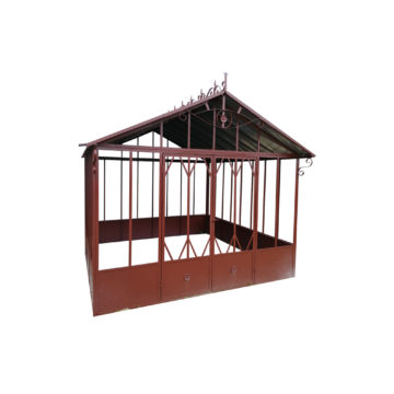 traditional brown metal greenhouse