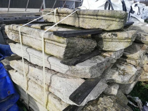 antique granite reclaimed steps from our stock
