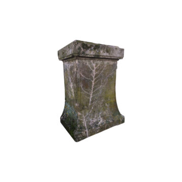 antique limestone base for statue