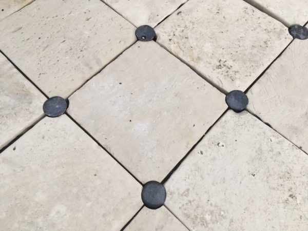 antique limestone tile floor outdoor