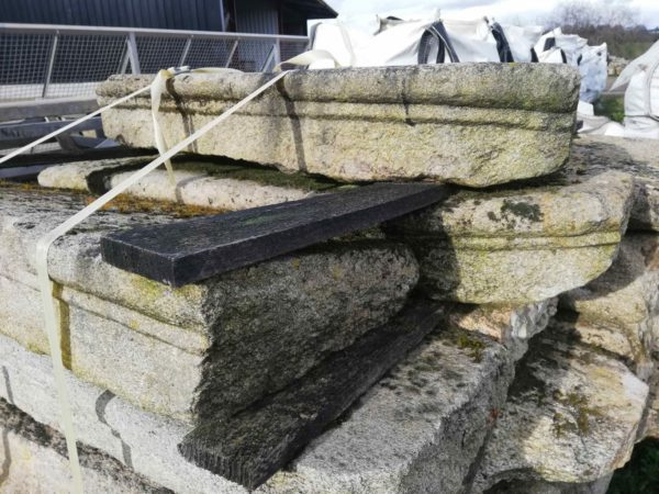 antique reclaimed stock of steps in granite