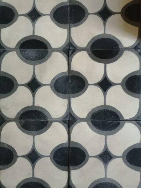 oval pattern cement tiles from BCA