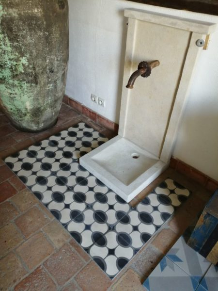 oval pattern cement tiles antique style