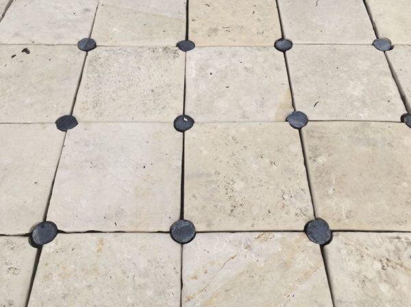 reclaimed cabochon stone floor BCA's stock