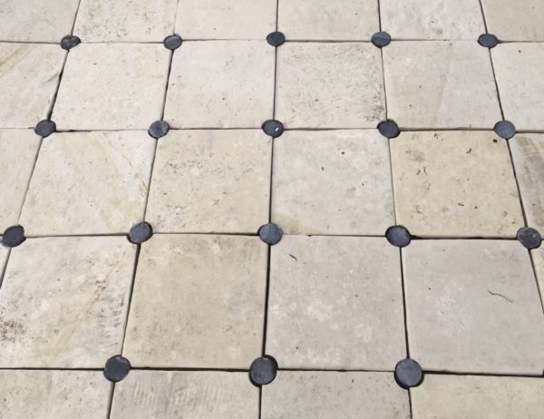 rounded cabochon stone floor