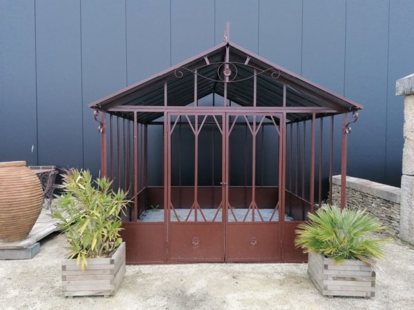 traditional greenhouse antique garde, decoration in brown color