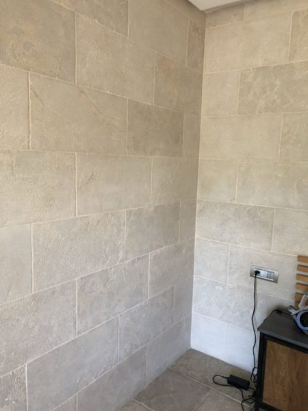 mera beige wall cladding details on angular