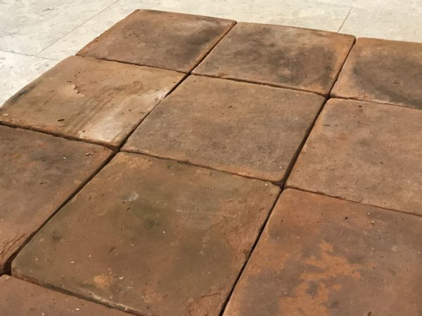 antique french terracotta tiles at bca's premise