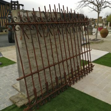 antique iron wall grill in our premise