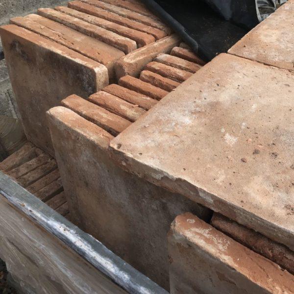 antique reclaimed terra cotta floor tiles