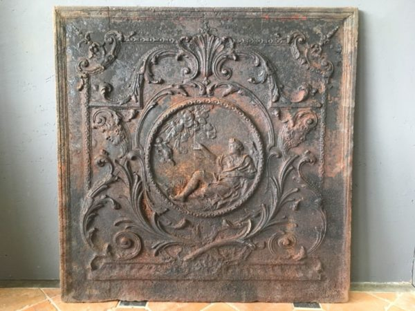cast iron product with an angel