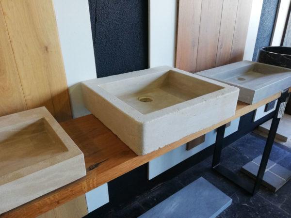 left side of the beige mera soft finish washbasin