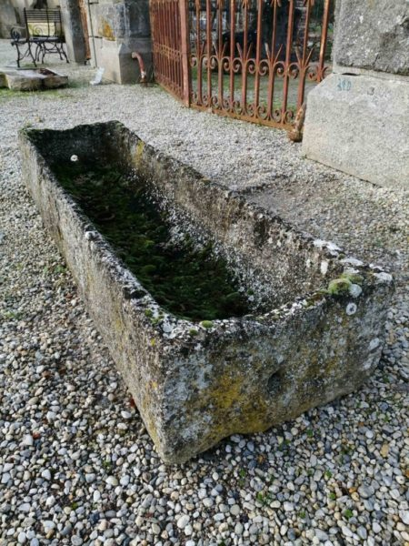 limestone trough in a rectangular shape