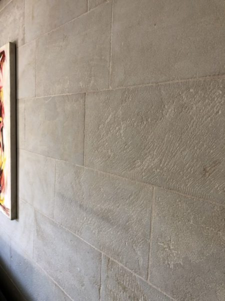 next to the wall cadding in beige liemstone