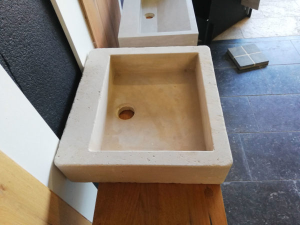 picture of the left side beige mera soft finish washbasin
