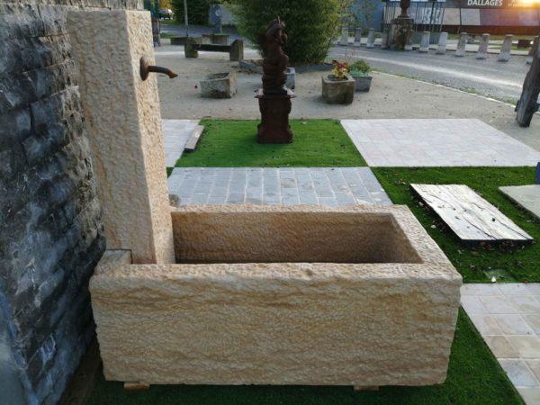 presentation of our small new limestone fountain