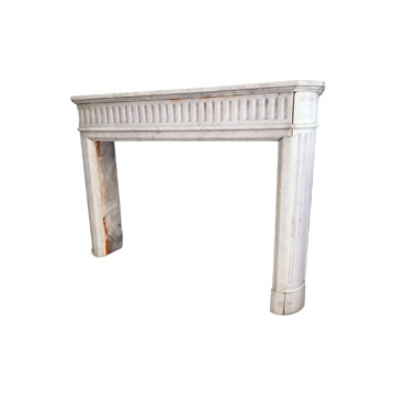 white marble mantel antique finition