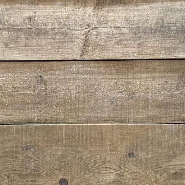 Reclaimed wide pine boards at BCA