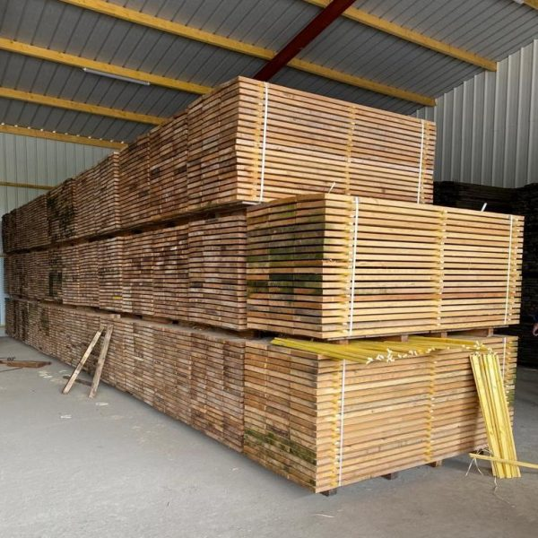 stock of wide pine boards at BCA