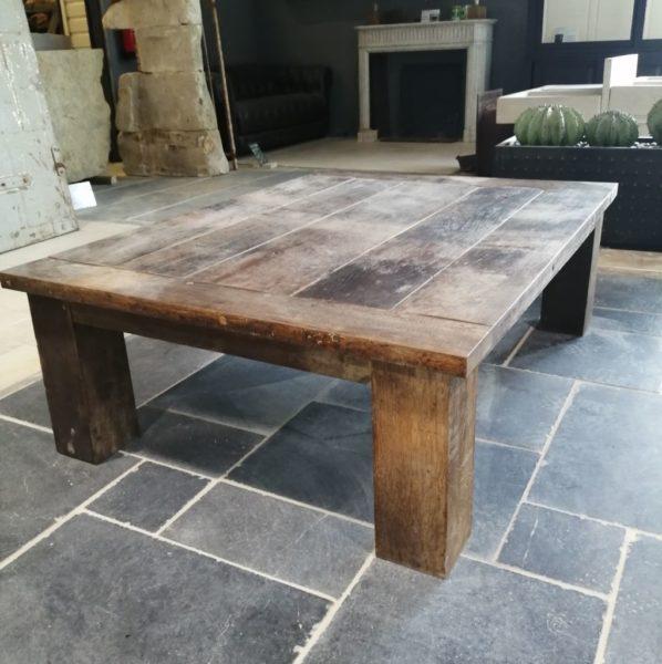 coffee table in barrel oak