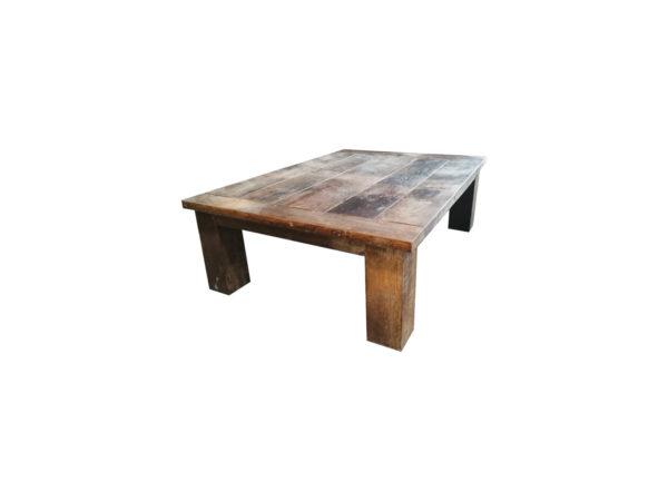 coffee table in old barrel oak