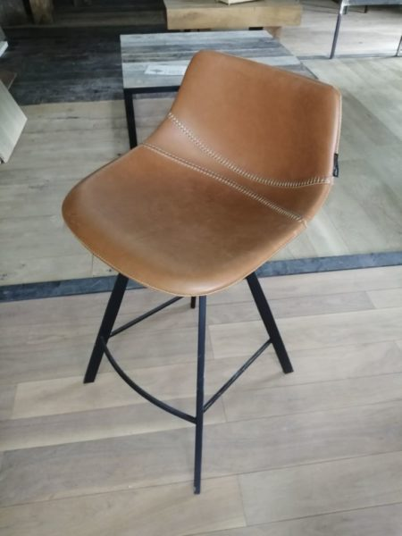 leather and metal high chair