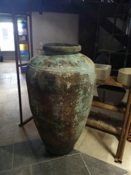 terra-cotta jar with an old patina