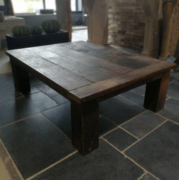 table in old barrel oak