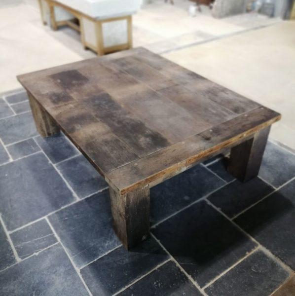 Old table in dark barrel