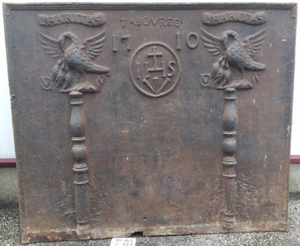 cast iron antique fireback