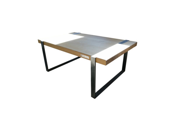 metal and wood coffee table arbre de fer