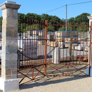 pair of french gateway pillars