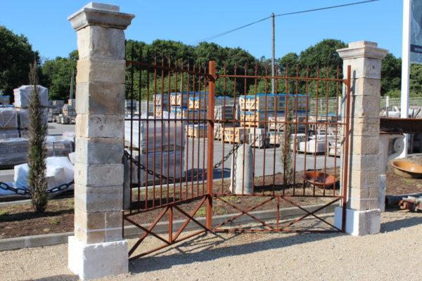 pair of french gateway pillars