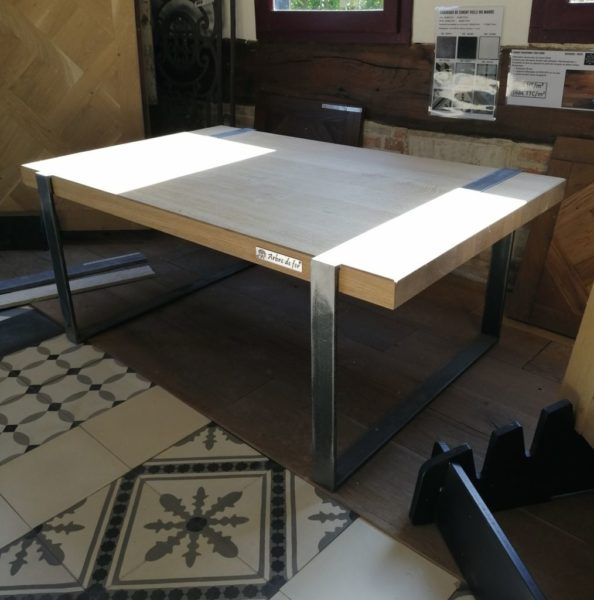 metal and wood table modern