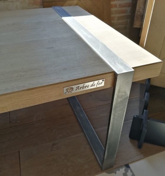table for coffee in modern style