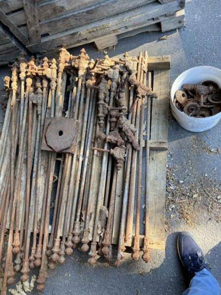 36 antique balusters